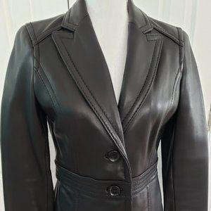 EUC Avanti Black leather Jacket SZ PS